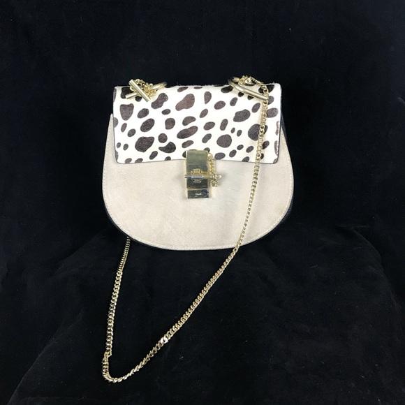 Chloe Handbags - Chloe Drew Lambskin  Leopard Print Small Handbag